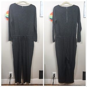 SOFT SURROUNDINGS dark gray long sleeve jumpsuit